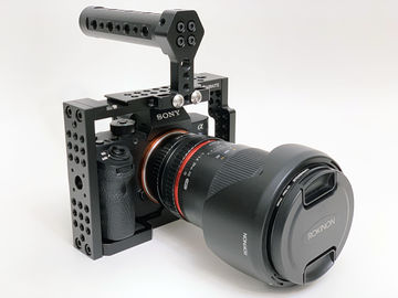 Sony a7SII + Cage/Handle, Cards/Batteries, 35mm Rokinon