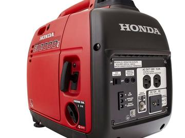 Rent: Honda eu2000is generator Kit w/ gas can + fire extinguisher