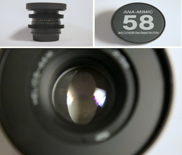 "Anamorphic 58mm f/2.8 in EF - Close Focus - 1'9""/0.55m"