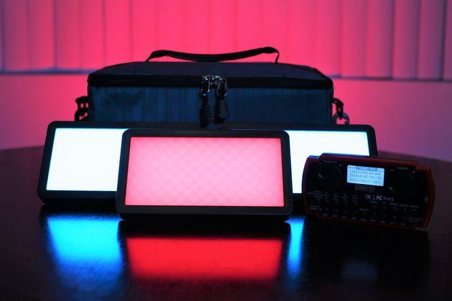 (3) CAME-TV Boltzen 20w RGB LED Panel Light Kit w/ Wireless