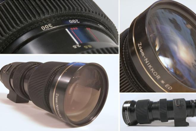 "Nikon 50mm-300mm f/4.5 Zoom in EF - Close Focus - 8'6""/2.5m"