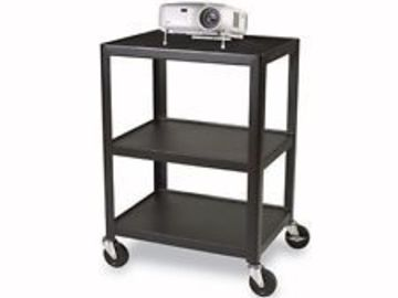 Rent: Bretford A2654-E5 5-shelve AV cart for projection & laptop