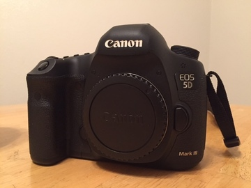 Canon 5D Mark III with 24-105mm lens and tripod