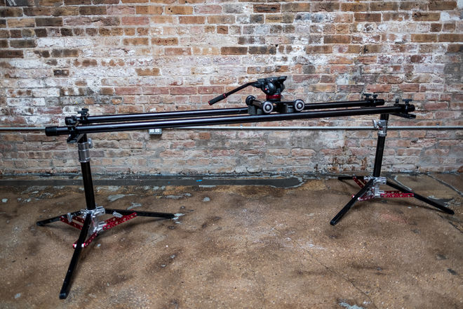 Rig Wheels Passport Camera Dolly + Head and Stands