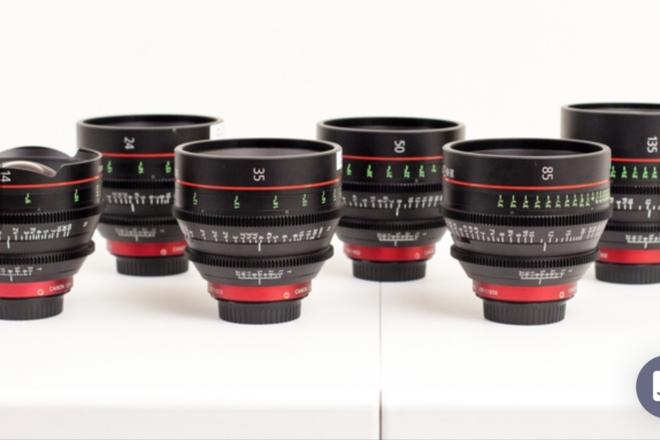 2 Canon CN-E prime lenses