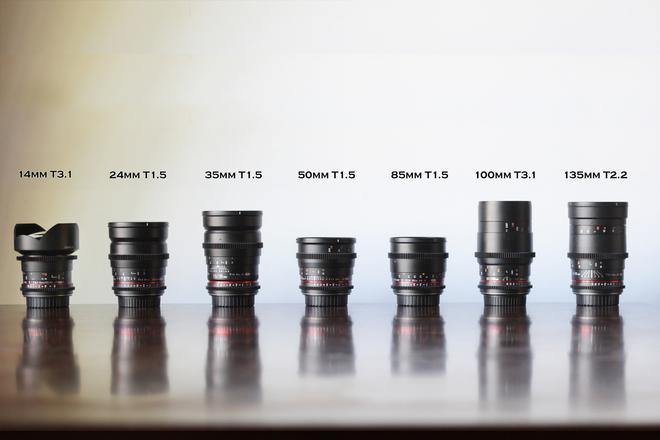 Rokinon Cine Lens kit - 7 lenses EF mount
