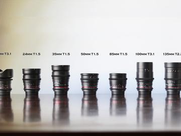 Rent: Rokinon Cine Lens kit - 7 lenses EF mount