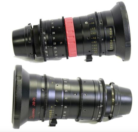Angenieux Optimo Zoom Set: 15-40mm & 28-76mm T2.6 PL Lenses