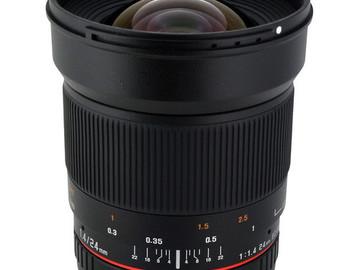 Rent: Rokinon 24mm f/1.4 ED AS UMC Wide-Angle Lens for Nikon