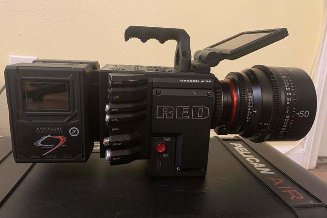 Red raven camera kit, xeen lenses, battery case