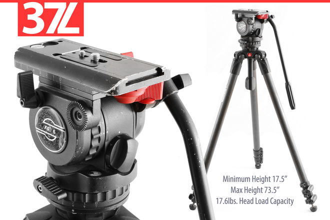 Sachter FSB 6 (18lbs Load) Carbon Tripod Manfrotto 535 75mm