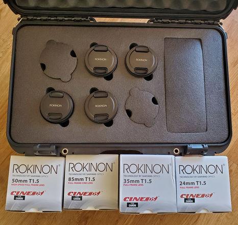 Rokinon Cine DS Prime Lens (Canon EF) (Choose 2 lens)