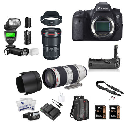 Canon EOS 6D Package w/16-35mm 2.8III, 70-200mm 2.8II,Strobe