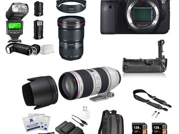 Rent: Canon EOS 6D Package w/16-35mm 2.8III, 70-200mm 2.8II,Strobe