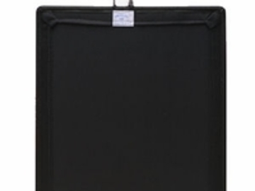 "Rent: 18"" x 24"" Solid Black Flag"