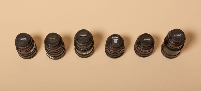 Rokinon Cine Prime Lens Set (16, 24, 35, 50, 85, 135)
