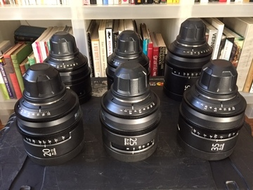 Rent: Sony Cine Alta T2.0 Prime lens set (PL mount)