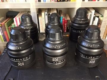 Rent: Sony Cine Alta T2.0 Prime lens set (PL mount)