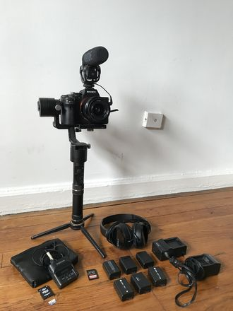 Sony A7sii gimbal kit with audio - Rode VideoMic and Tascam