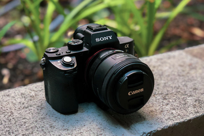 Sony Alpha a7S II + EF Adapter + Canon 50m f/1.8 Lens