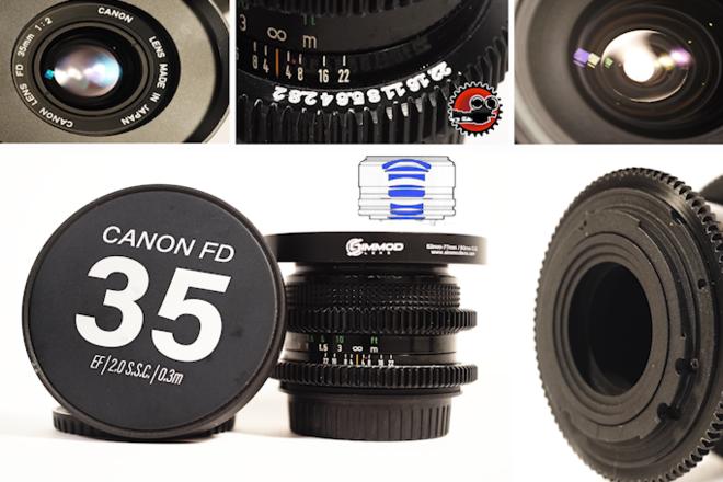 """Canon FD 35mm f/2 S.S.C. in EF - Close Focus - 12""""/0.3m"""