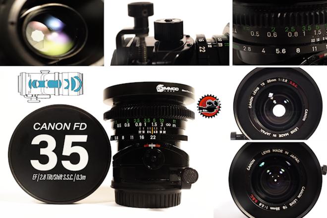 "Canon FD 35MM f/2.8 (Tilt-Shift) EF - Close Focus - 12""/0.3m"