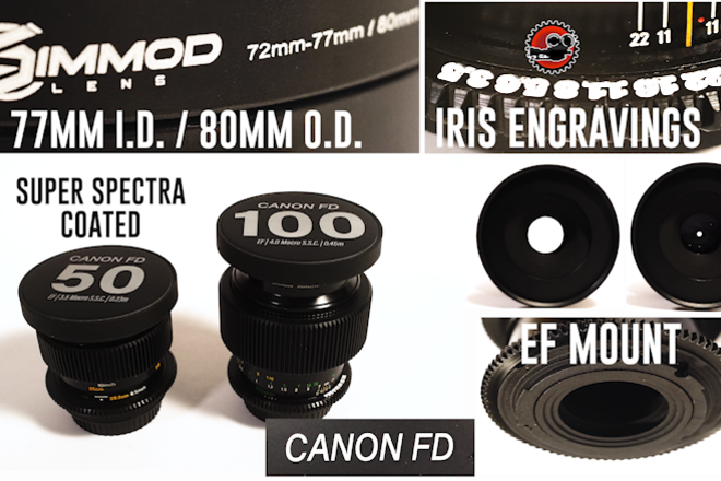 Canon FD (Macro) in EF S.S.C. (Choose Two Lenses)