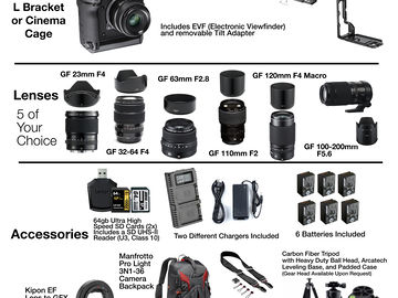 Rent: Fuji GFX 100 Medium Format Mirrorless - 5 Lens Package
