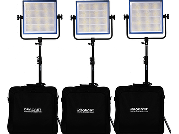 Rent: Dracast LED1000 Pro Bi-Color V-Mount 3-Light Kit