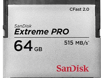 Rent: 2-Pack Sandisk Pro CFast 2.0 64GB 515MB/s