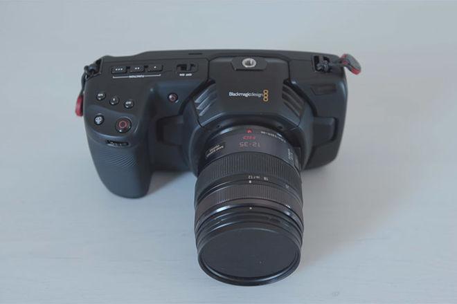 Blackmagic Design Pocket Cinema Camera 4K w/Lumix 12-35