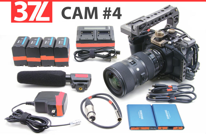 BMPCC4K, Mic, Sigma 18-35mm, Speed Booster, 12 Hours Power