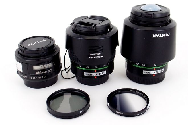 Pentax Travel Trio: Kit zoom, fast 50, and telephoto zoom