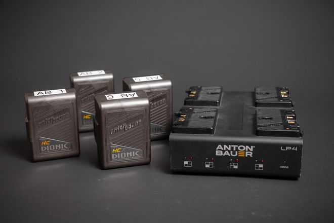 Anton Bauer Dionic Battery (4-Pack) + Charger