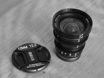 Rent: Meike Meike 12mm T2.2 Manual Focus Cinema Lens (MFT Mount)