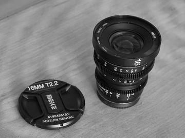 Rent: Meike 16mm T2.2 Manual Focus Wide Angle Cinema Lens (MFT)