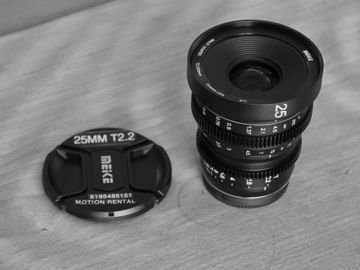 Rent: Meike Meike 25mm T2.2 Manual Focus Cinema Lens (MFT Mount)