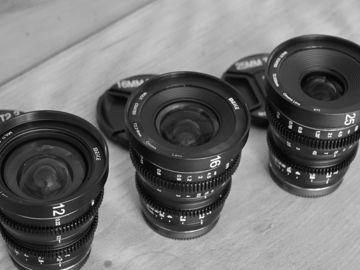 Rent: Meike Mini Prime set for MFT -  12mm T2.2 / 16mm T2.2 / 25mm