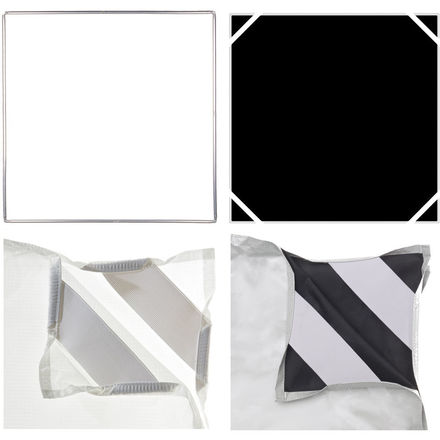 Chimera 6x6 Frame w/ Silk & white/black fabric