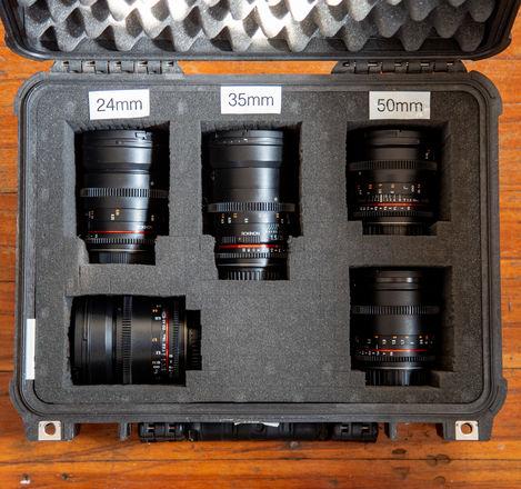 Rokinon EF Mount 5 lens kit (16, 24, 35, 50, 85mm) Cine DS