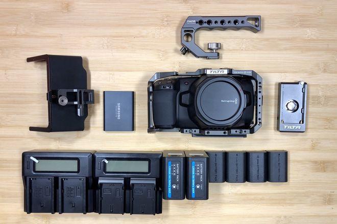 Blackmagic Pocket 6K W/ Tilta Cage, Power and 1TB Memory