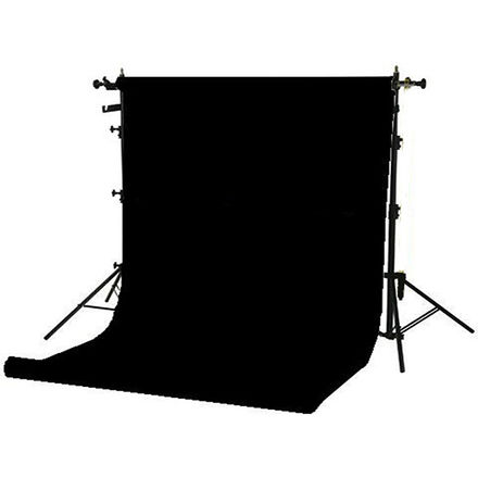 """Background Portable Stand Kit + 107"""" wide Paper Black roll"""