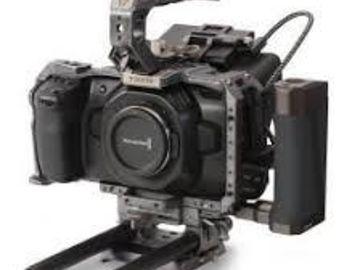 Rent: Blackmagic Pocket 4K with ssd, metabones, lens, v mount etc