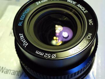 Rent: Vivitar 24mm f2 MC RL Edition for Nikon Ais + Canon EOS Adap