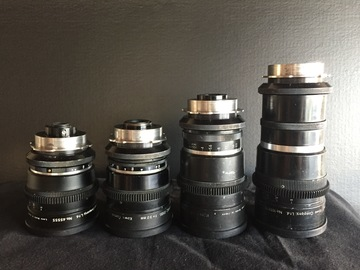 Kowa anamorphic with telephoto adpt and wide angle adpt