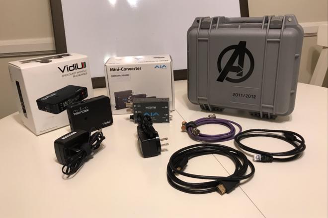Teradek VidiU and AJA BNC to HDMI Converter for Live Stream