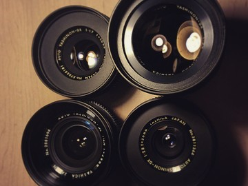 Rent: 4 Yashica Cine-mod lenses EF MOUNT + FILTERS