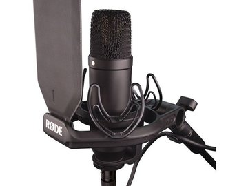 Rent: Rode NT1 Black W/ desk mic stand, xlr pre-amp, cable