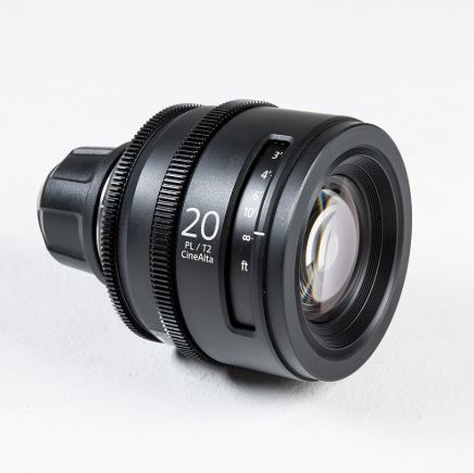 Sony CineAlta 20mm PL/T2 PL Mount Prime Lens
