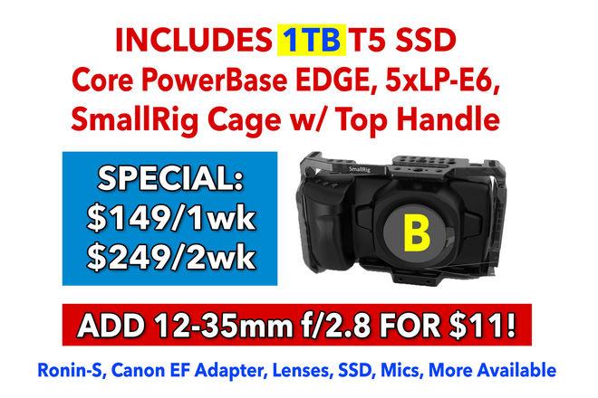 Blackmagic Design Pocket Cinema Camera 4K +Cage, Power, 1TB